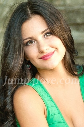 Ukrainian girl Anna ,25 years old with brown eyes and dark brown hair. Anna