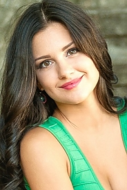 Ukrainian girl Anna ,25 years old with brown eyes and dark brown hair.