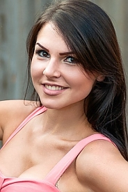 Ukrainian girl Ludmila ,22 years old with brown eyes and black hair.