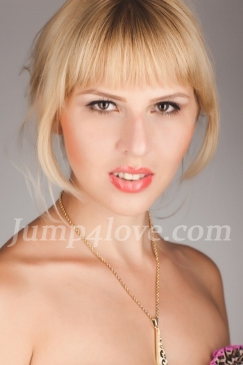 Ukrainian girl Anna,25 years old with brown eyes and blonde hair. Anna