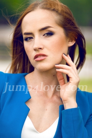 Ukrainian girl Marina,24 years old with green eyes and red hair. Marina