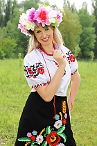 Ukrainian girl Maria,30 years old with blue eyes and blonde hair.