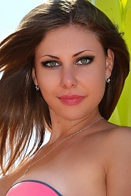 Ukrainian girl Irina,19 years old with green eyes and light brown hair.