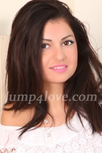 Ukrainian girl Albina,24 years old with brown eyes and dark brown hair. Albina