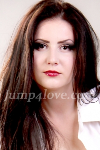 Ukrainian girl Ludmila,19 years old with brown eyes and black hair. Ludmila