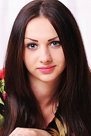 Ukrainian girl Valeria,18 years old with blue eyes and dark brown hair.
