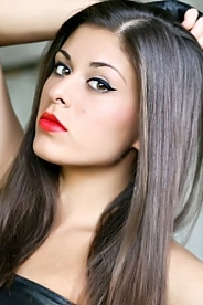 Ukrainian girl Inessa,22 years old with brown eyes and dark brown hair.