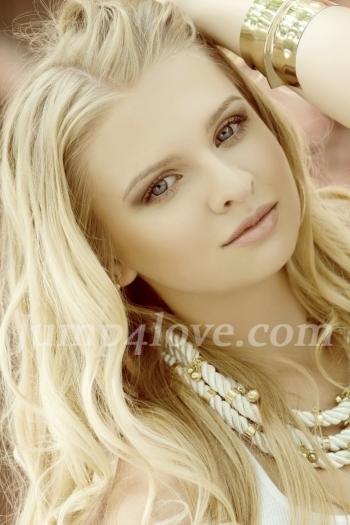 Ukrainian girl Karina,20 years old with blue eyes and blonde hair. Karina