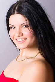 Ukrainian girl Daria,22 years old with brown eyes and black hair.
