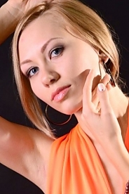 Ukrainian girl Marina,25 years old with green eyes and blonde hair.
