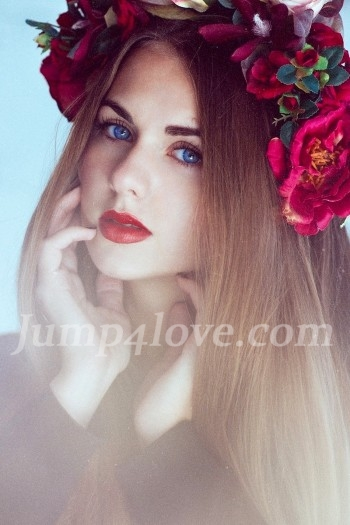 Ukrainian girl Viktoriya,23 years old with blue eyes and light brown hair. Viktoriya