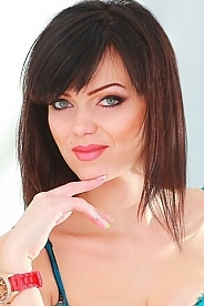 Ukrainian girl Ekaterina,27 years old with blue eyes and black hair.