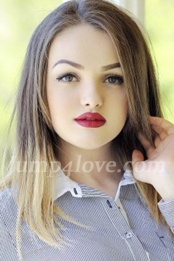 Ukrainian girl Anastasia,19 years old with green eyes and light brown hair. Anastasia