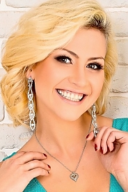 Ukrainian girl Luchiana - Anastasia ,26 years old with brown eyes and blonde hair.