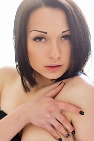 Ukrainian girl Yanessa,19 years old with brown eyes and dark brown hair.