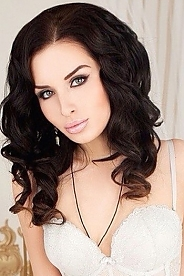 Ukrainian girl Elena,19 years old with green eyes and black hair.