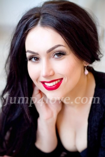 Ukrainian girl Anna,26 years old with brown eyes and black hair. Anna