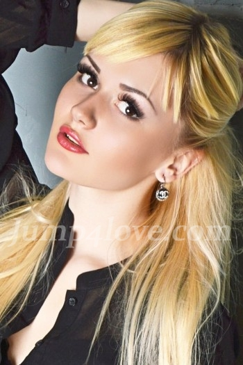 Ukrainian girl Alina,23 years old with brown eyes and blonde hair. Alina