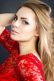 Ukrainian girl Halina,20 years old with blue eyes and light brown hair.