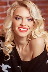Ukrainian girl Kristina,25 years old with blue eyes and blonde hair.
