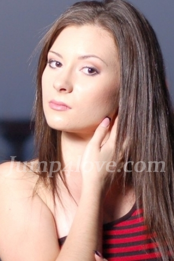 Ukrainian girl Ella,21 years old with brown eyes and black hair. Ella