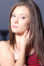 Ukrainian girl Ella,21 years old with brown eyes and black hair.