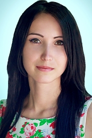 Ukrainian girl Oksana,26 years old with brown eyes and black hair.