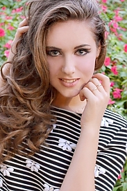 Ukrainian girl Solomiya,18 years old with blue eyes and light brown hair.